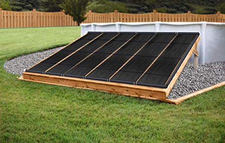 SunQuest 4-2X12 Solar Swimming Pool Heater Complete System with Roof Kits